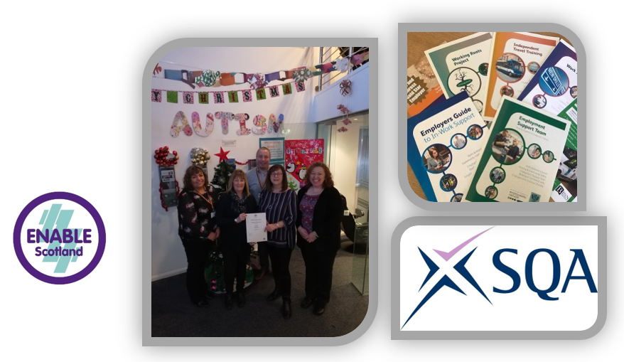 Employment Support Team awarded an SQA Personal Development Award